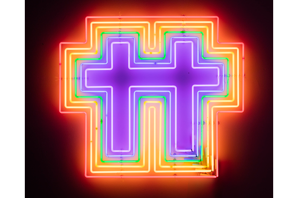 rainbowNeonCrossForTwo